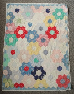 vintage laura ashley patchwork baby quilt