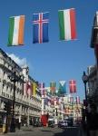 olympic flags regents street london 2012