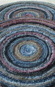 denim jeans rag rug trivet