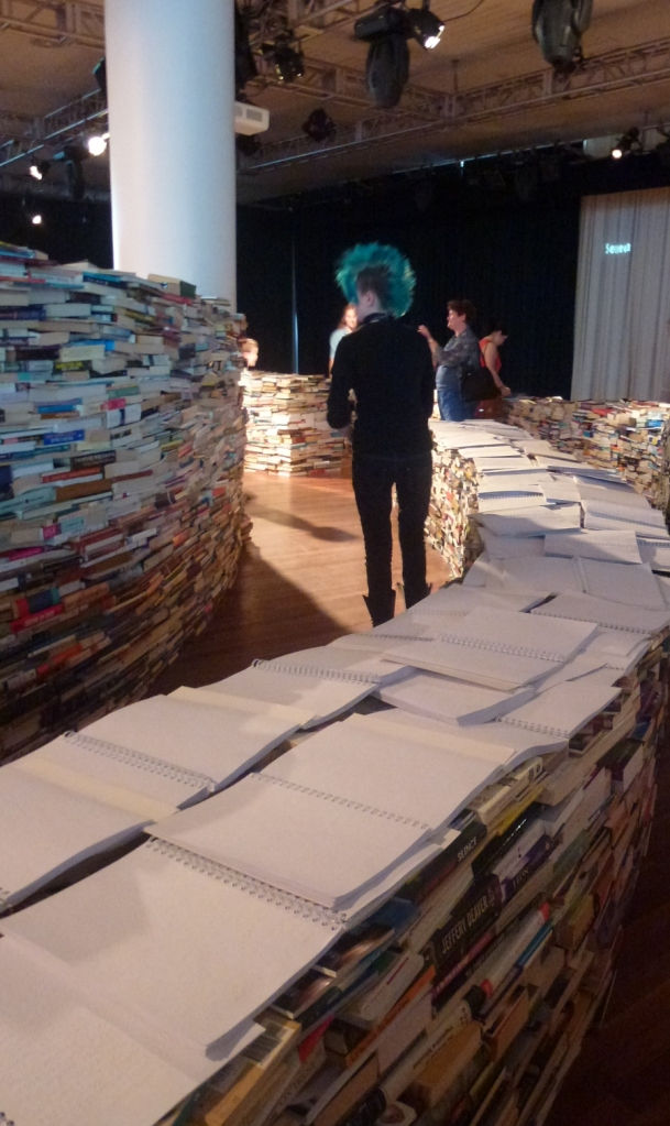 braile books on the book maze walls london cultural olympiad 2012