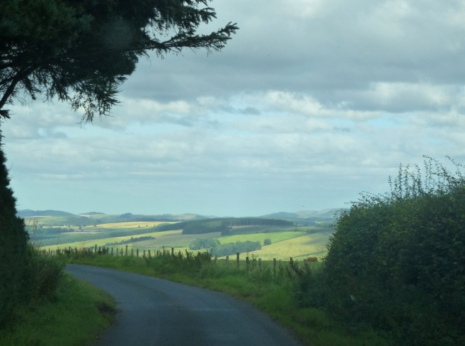 road between chesters and the A68, scottish borders