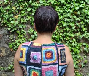 back of crochet dress